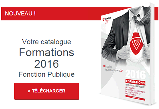 Catalogue 2016 GERESO Formations Fonction Publique