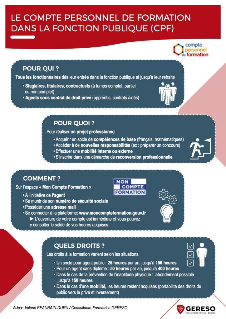 Infographie CPF fonction publique